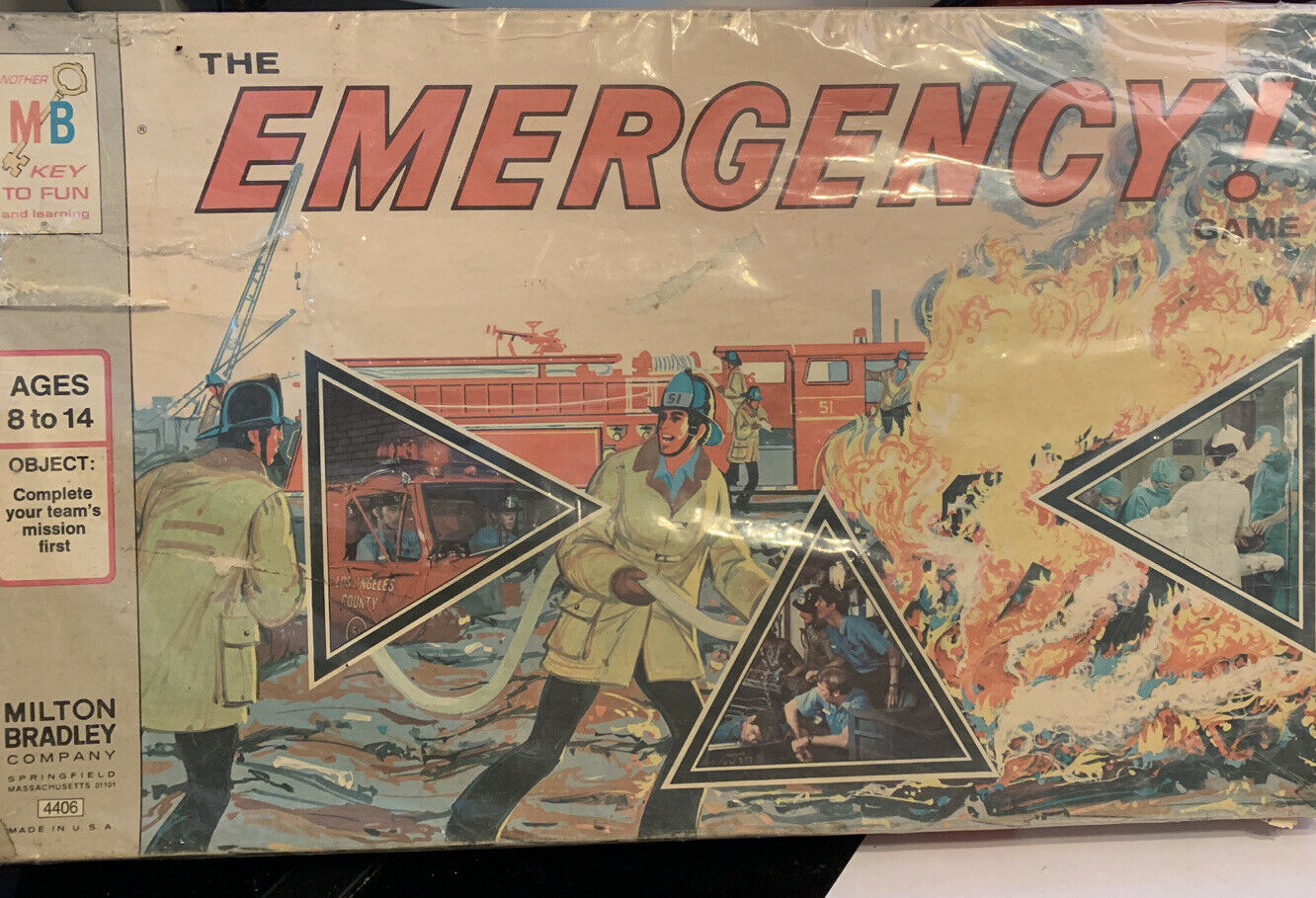 Primary image for Milton Bradley The Emergency Board Game Looks UnUsed Vintage