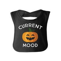 Pumpkin Current Mood Baby Black Bib - $9.99