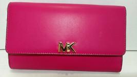 MICHAEL Michael Kors MOTT leather clutch gold chain,Rose Pink NWT - $78.75