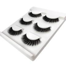 3 Pairs Natural False Eyelashes Thick Makeup Real 3d Mink Lashes Soft Ey... - $4.99