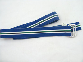 NEW! NWT! Polo Ralph Lauren Classic Grosgrain Repp Stripe Belt! S    Blue - $44.99