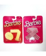 Vintage 1984 Mattel Barbie Fashion Extras #7962 and #9865 - Stole Hat Pu... - $11.50