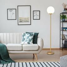 Glass Globe LED Floor Lamp w/ Acrylic Lampshade - €72,44 EUR