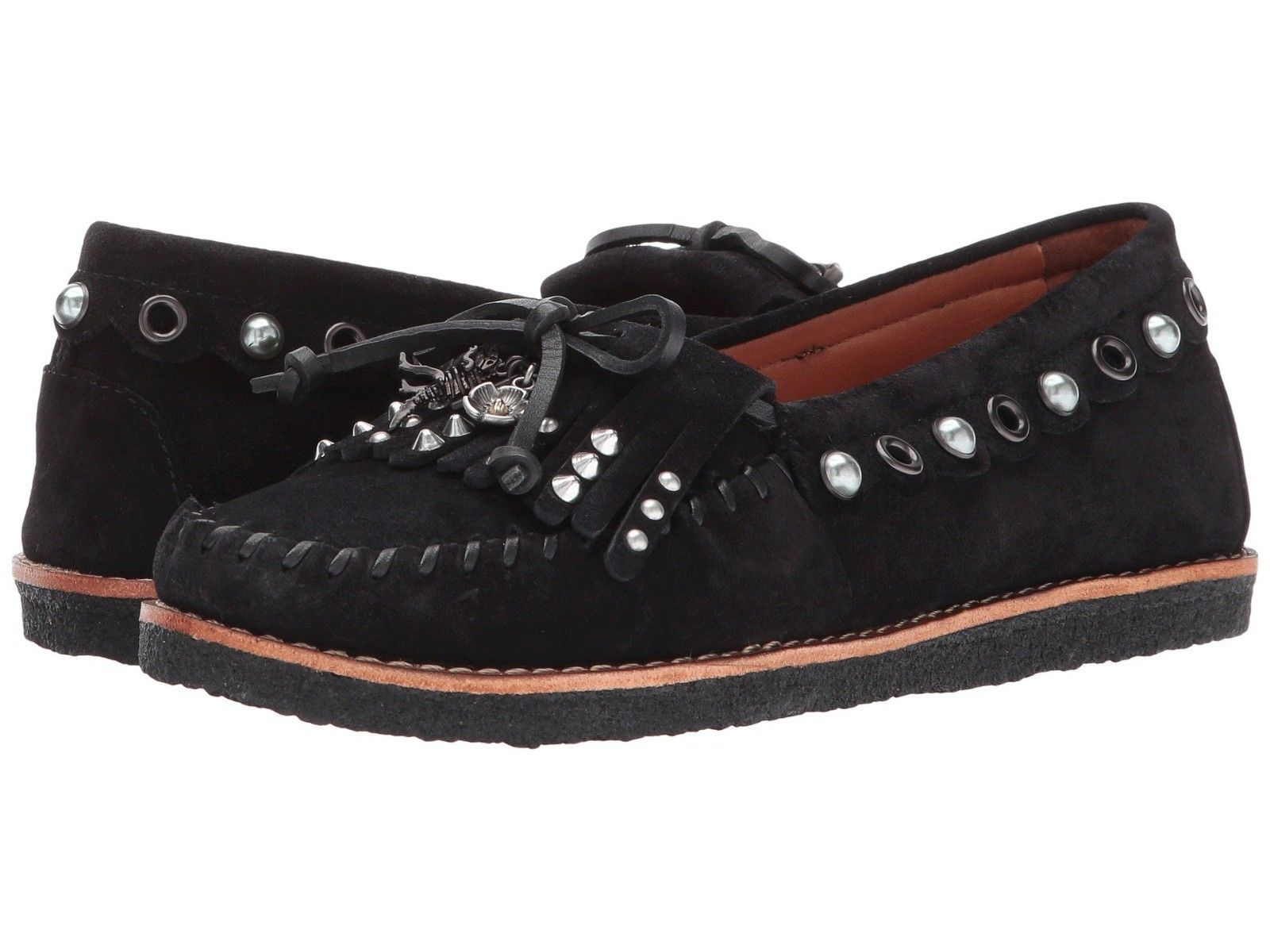71d94491bc9 Coach Roccasin Embellished Moccasin Shoes Black 6.5 -  179.99