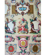CARTOUCHES French 18th Century Masks Damaskeening - A. RACINET Color Print - $25.20
