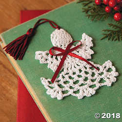 Cotton Crocheted Angel Bookmarks, Set of 12