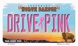 Drive Pink North Dakota Novelty Metal Magnet M-9669 Metal Mini License P... - $9.31