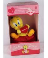 Vintage Warner Bros Tweety Bird plush singing dancing Baby Love 10 In - $36.11