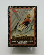 1991 Topps Rocketeer Movie Card Series 99 Super Glossy Card & 11 Sticker Set - $14.73