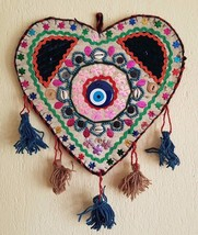 Christmas Gift Tribal Wall Hanging Natural Wool and Felt Amulet against ... - $46.39