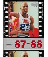 Michael Jordan Upper Deck 98-99 MJ Timeframe #25 87-88 Chicago Bulls MVP... - $0.75