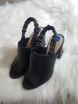 Nine West  HAILAMAO Black  Leather Slingback Heels Sandals-Sz 7.5 - $49.49