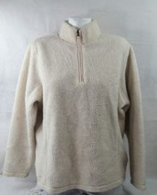 Lands End Women's Sweater Long Sleeve Cotton Standing Neck Size Large - $14.95