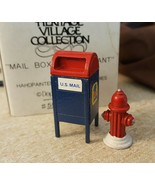 Dept 56 General Village 1989 MAILBOX AND FIRE HYDRANT 55174 Retired 1990 - $5.00
