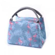 Animal Flamingo Lunch Bags Women Portable Functional Canvas Stripe Insul... - €8,95 EUR