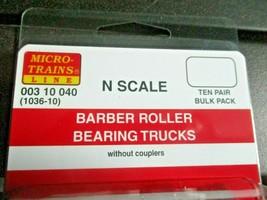 Micro-Trains Stock # 00310040 (1036-10) Barber Roller Bearing Trucks w/o Coupler image 2