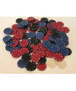 Poker Chips Lot of 120 Clay Casino Brand Blue Black Red for Crafts Math ... - $14.99
