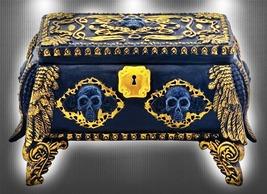 Haunted ILLUMINATED SPIRIT KEEPER MIRRORED BOX CHEST HIGH MAGICK WITCH Cassia4  - $150.00