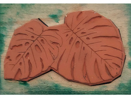Rubber Stamps of America Leaves Wood Mounted Rubber Stamp image 2