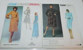 2 VOGUE Designer Dress Patterns Belinda Bellville 1585, Ungaro 2734 sz 1... - $14.45