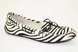 Sperry Top Sider Laura Womens White Black Zebra Moccasins Flats Loafers Shoes 5 - $55.99