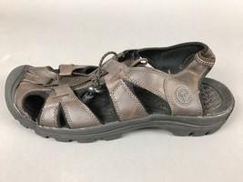 Margaritaville Duster Sport Sandals Premium Island 12 Straps Brown Leather - $30.51 CAD