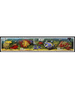 1999 33c Aquarium Fish, Strip of 4 Scott 3317-20 Mint F/VF NH - $2.27