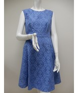 JCrew Blue Embroidered Fabric Sleeveless Cocktail Dress size 8 - $64.00