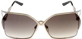 Cesare Paciotti Sunglasses Women Silver Gold White Amber Rectangular CPS... - $187.11