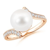 9mm Freshwater Cultured Pearl Bypass Ring 14K Gold/ Silver Size 3-13 - $388.59+