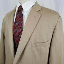 Brooks Brothers 346 Linen Cotton Tan  Blazer Sport Coat Jacket Regent Fi... - $64.99