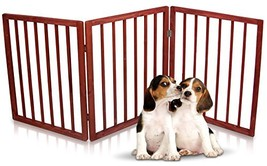 Kleeger Freestanding Folding Indoor Safety Wooden Pet Gate For Home Or O... - $48.13