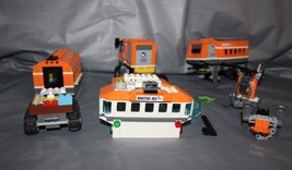 Lego City Arctic Outpost 60035 And Snow Mobile 60036 With Ice Breaker 60062 - $59.39