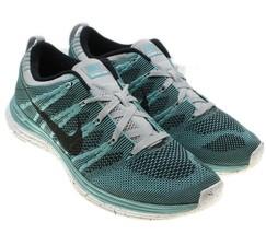 NIKE Flyknit One+ Sport Turquoise Mens SZ 8 Lunarlon Running Shoes 55488... - $53.87