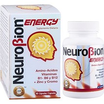 60 Caps Neurobion Energy - Amino Acids Vitamin B1 B2 B6 B12 - Increases Brain Al - $19.59