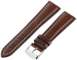 Hadley-Roma Men's MSM886RA-220 22-mm Black Genuine Shrunken Leather... SHIPSFREE - $17.39