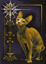 Cross Stitch Kit Panna Golden Series Egyptian Cat - $37.00