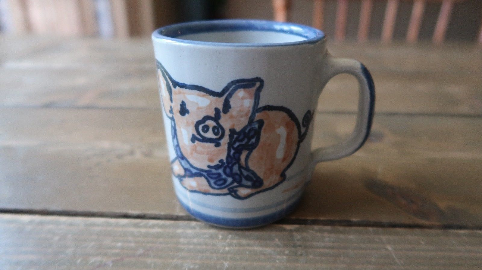 "LOUISVILLE STONEWARE PIG PIGGY Coffee Mug 3.25"" - $23.76"