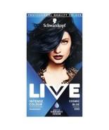 Schwarzkopf Live Hair Dye Colour COSMIC BLUE Permanent METALLIC SHINE BO... - $15.89