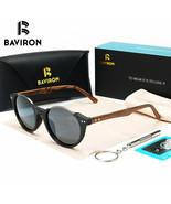 BAVIRON® Wood Acetate Sunglasses Unisex Plate Polarized Glasses Semi-Rim... - $47.97