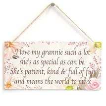 Meijiafei I love my grannie such a lot she's as special as can be... - Home Acce - $12.86