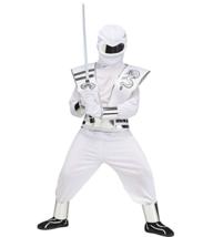 Kids Ghost Mirror Ninja Costume Cosplay Dress Up Large White - $16.82
