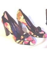 Missoni Orange Label Floral Pattern Leather and Velvet Pumps Shoes EUR 3... - $375.00