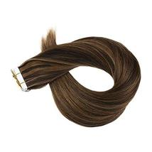 Hetto Tape in Human Hair Extensions 22 inches Seamless Glue in Hair Extensions 2 image 4