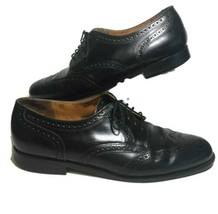 Cole Haan Mens 12 D Oxford Dress Shoes Black Leather Wing Tip Brogues Ca... - $39.99