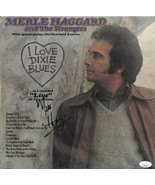 Merle Haggard signed I Love Dixie Blues Record Album LP (1973 Capitol Re... - $258.95