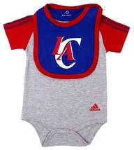 NEW NWT ADIDAS NBA INFANT BABY TODDLER 3 PIECE CREEPER SET LOS ANGELES CLIPPERS