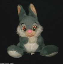 "14"" VNTAGE DISNEY THUMPER BUNNY RABBIT BAMBI CALIFORNIA STUFFED ANIMAL P... - $25.25"