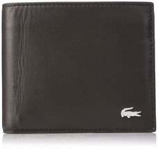 Lacoste Men's Billfold Coin Wallet Crocodile Key Ring Gift Set Brown NH2072FG image 2