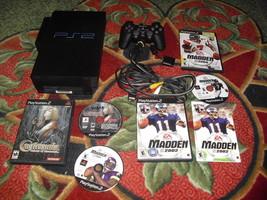 Sony PlayStation 2 Black Console 39001 (NTSC ) castlevania madden 2002 a... - $89.09